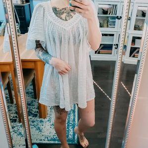 Sheer boho mini dress